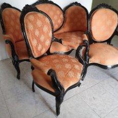 Antigüedades: CONJUNTO DE SOFA Y SILLONES. Lote 188420070