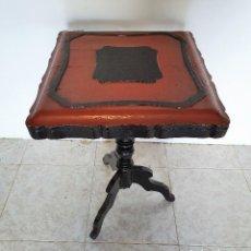 Antigüedades: ANTIGUA MESA AUXILIAR ABATIBLE. Lote 188420906