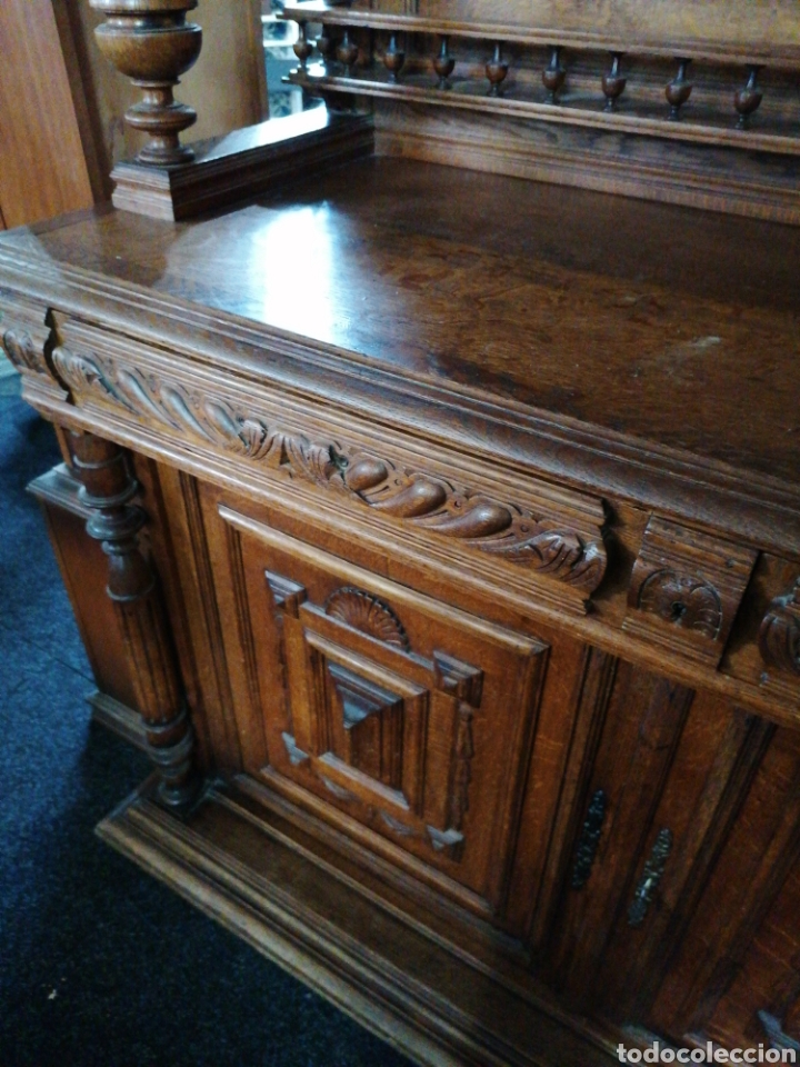 Antigüedades: Aparador de roble macizo tallado - Foto 5 - 188450857