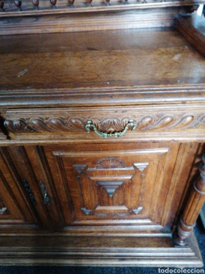 Antigüedades: Aparador de roble macizo tallado - Foto 6 - 188450857