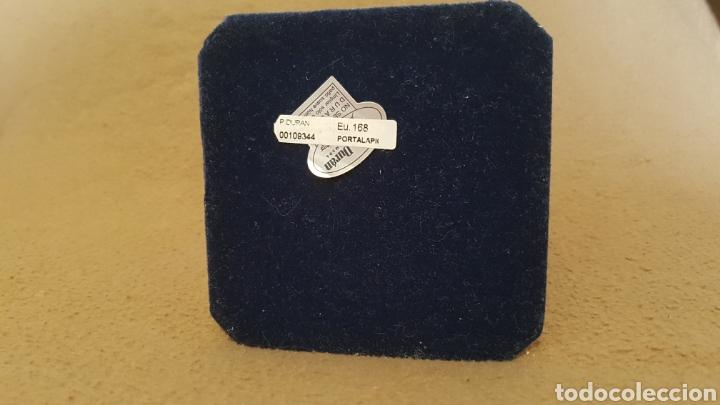 Antigüedades: PEDRO DURÁN PORTALAPICES PLATA Y CUERO CABEZA DE CABALLO. - Foto 4 - 188473110