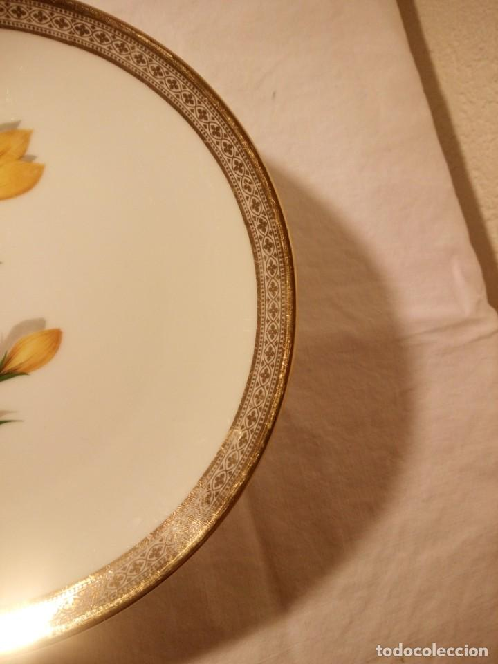 Antigüedades: Precioso plato de postre de porcelana winterling marktleuthen bavaria,decorado con oro y flor. - Foto 4 - 188478556