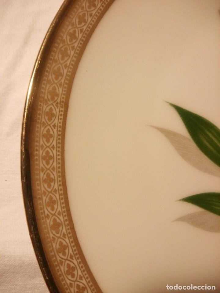 Antigüedades: Precioso plato de postre de porcelana winterling marktleuthen bavaria,decorado con oro y flor. - Foto 5 - 188478556