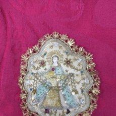 Antigüedades: ANTIGUO ESCAPULARIO BORDADO. Lote 188479187