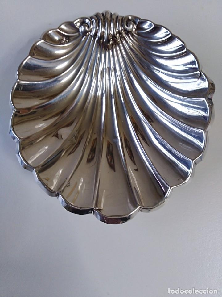 CONCHA GALLONADA DE PLATA DE LEY CONTRASTADA (Antigüedades - Platería - Plata de Ley Antigua)