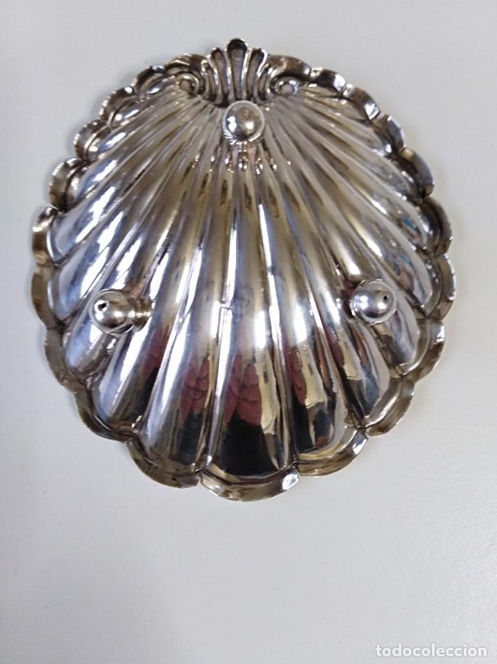 Antigüedades: Concha gallonada de plata de ley contrastada - Foto 2 - 188479912