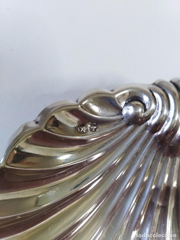 Antigüedades: Concha gallonada de plata de ley contrastada - Foto 3 - 188479912