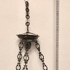 Antigüedades: LAMPARA VOTIVA EN PLATA DE LEY DEL SIGLO XVIII. Lote 188493887