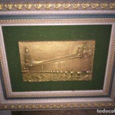 Antigüedades: CUADRO CON HORREO GALLEGO - HORREO DE CARNOTA - BRONCE -- . Lote 188499792
