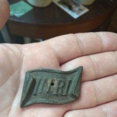 Antigüedades: ANTIGUA PLACA INRI PARA CRUCIFIJO. Lote 188509482