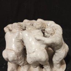 Antigüedades: ESCULTURA BARRO, ARCILLA, TERRACOTA VITRIFICADA.. Lote 188531107