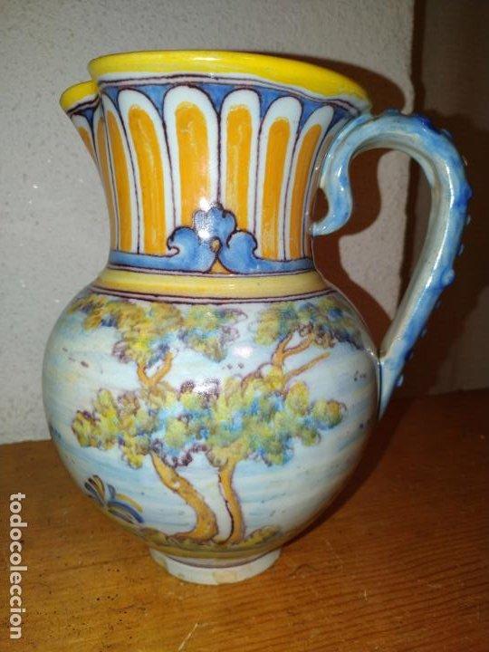 Antigüedades: Jarra cerámica Talavera ( Toledo) con liebre Ruiz de Luna - Foto 3 - 188541877