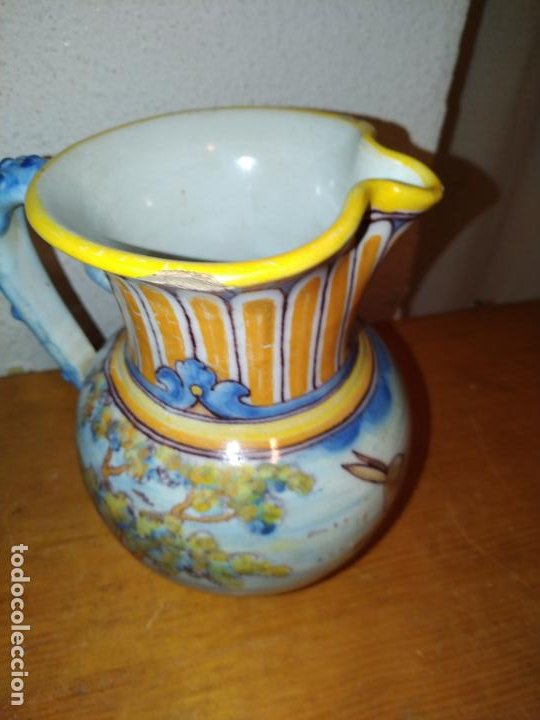 Antigüedades: Jarra cerámica Talavera ( Toledo) con liebre Ruiz de Luna - Foto 5 - 188541877