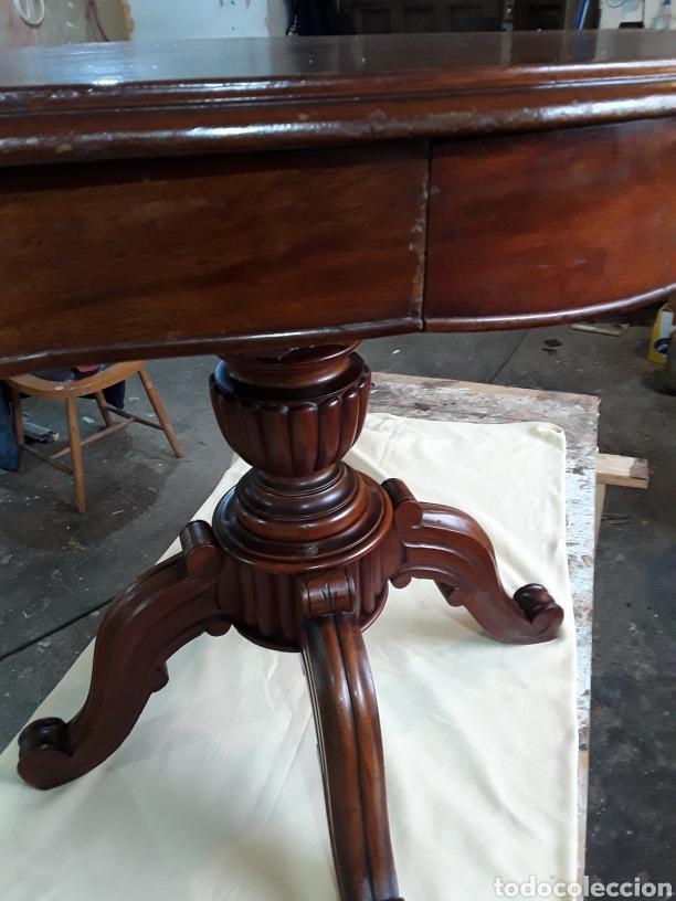 Antigüedades: Velador de nogal - Foto 5 - 188550970