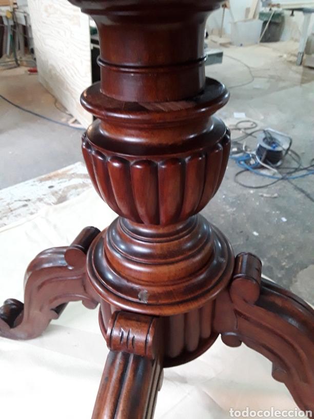 Antigüedades: Velador de nogal - Foto 6 - 188550970