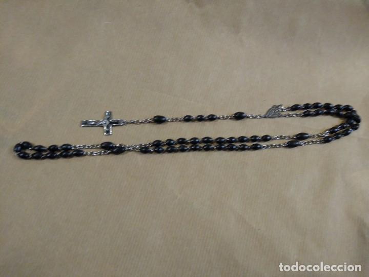 Antigüedades: Precioso rosario de madera o similar con Cruz Religión. - Foto 2 - 188551481