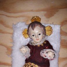 Antigüedades: NIÑO JESUS 10 CM CON PIEL NUEVO. Lote 188551697