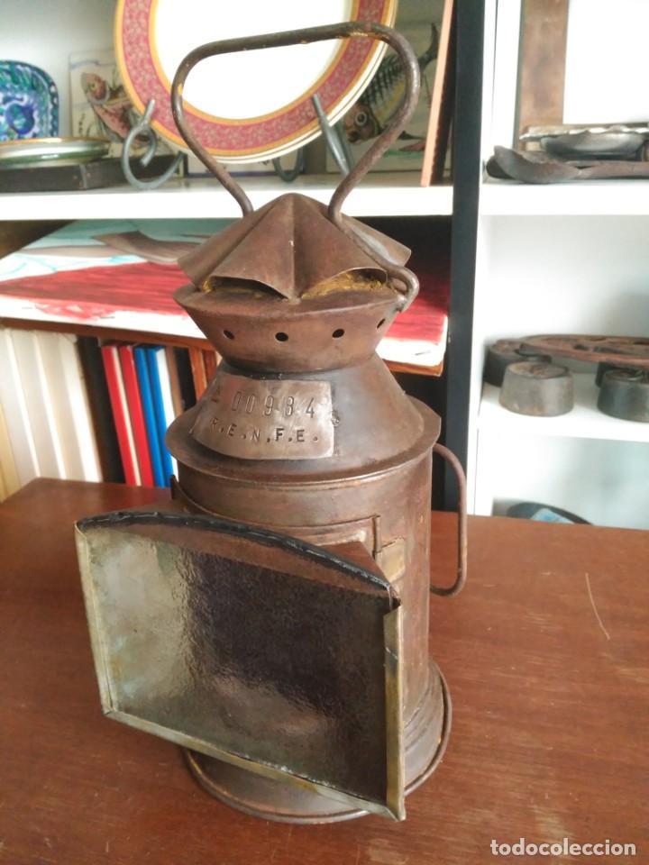 ANTIGUO FAROL FERROVIARIO (Antigüedades - Iluminación - Faroles Antiguos)