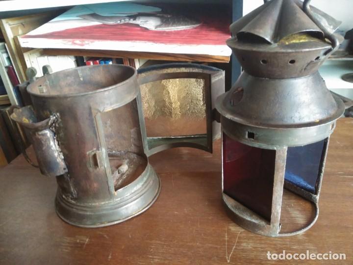 Antigüedades: Antiguo farol ferroviario - Foto 5 - 188560462
