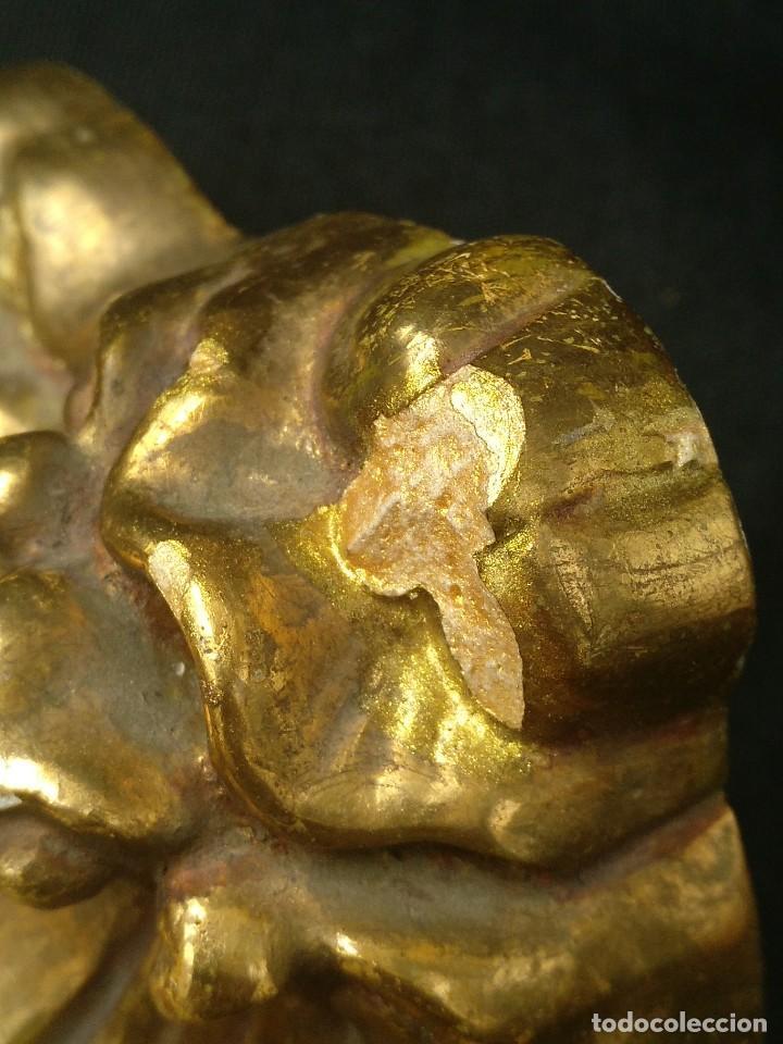 Antigüedades: PEQUEÑA MÉNSULA DE ESCAYOLA DORADA - Foto 4 - 188561860