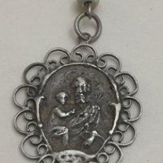 Antigüedades: ANTIGUO ROSARIO CON MEDALLA INCOMPLETO. Lote 188572550