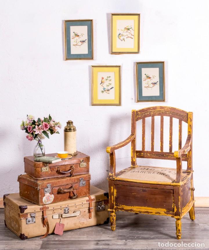 SILLÓN ANTIGUO RESTAURADO (Antigüedades - Muebles Antiguos - Sillones Antiguos)