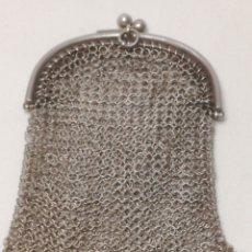 Antigüedades: MONEDERO MALLA PLATA DE LEY. Lote 188603563