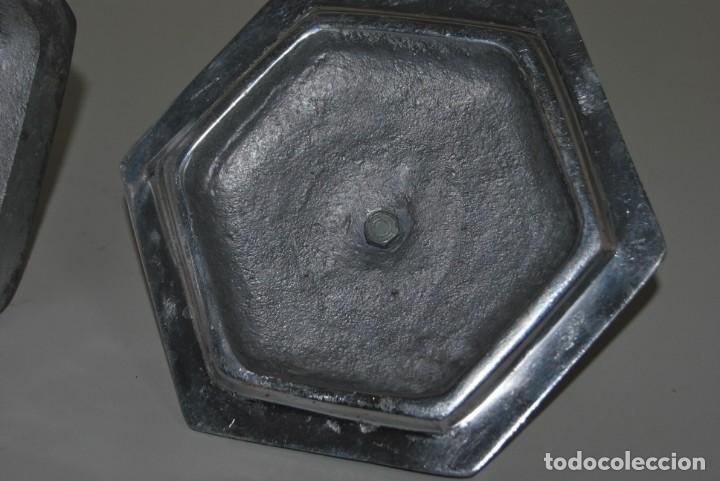 Antigüedades: PRECIOSO BOTE DE CERÁMICA - TAPA DE METAL - TALAVERA DE PUEBLA - MÉXICO - Foto 10 - 188621920