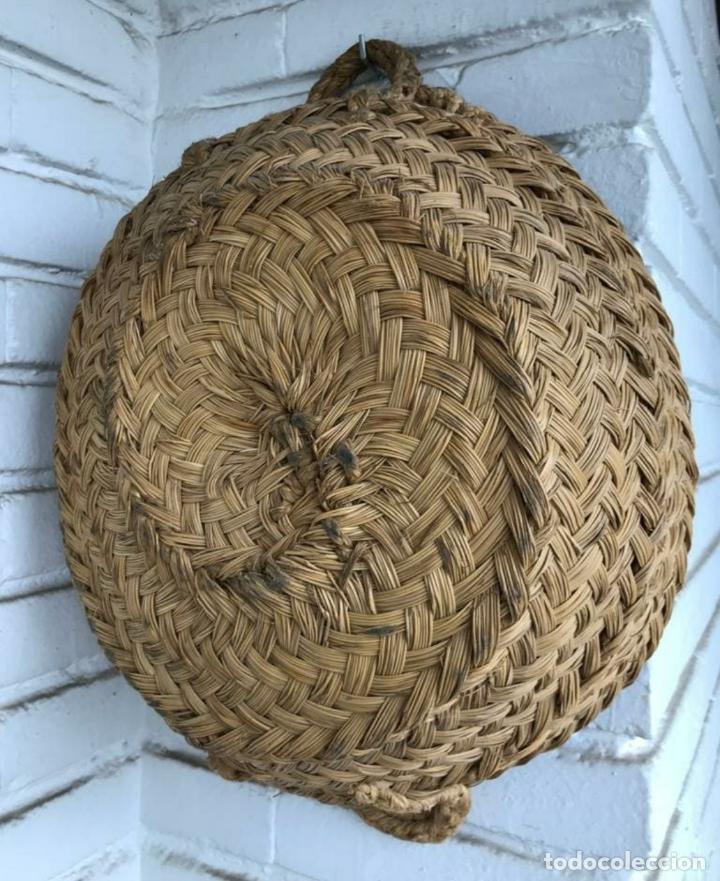 ESPUERTA ANTIGUA PRECIOSA ESPARTO (Antigüedades - Técnicas - Rústicas - Agricultura)
