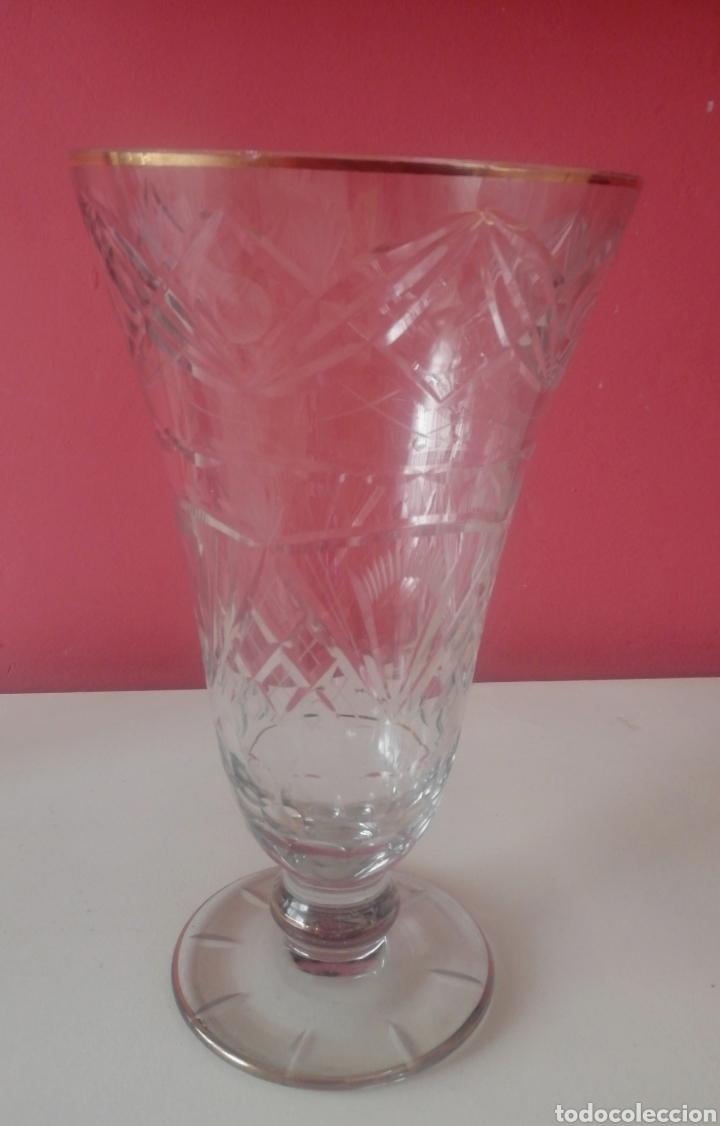 Antigüedades: Jarrón cristal tipo Isabelino - Foto 5 - 188644342