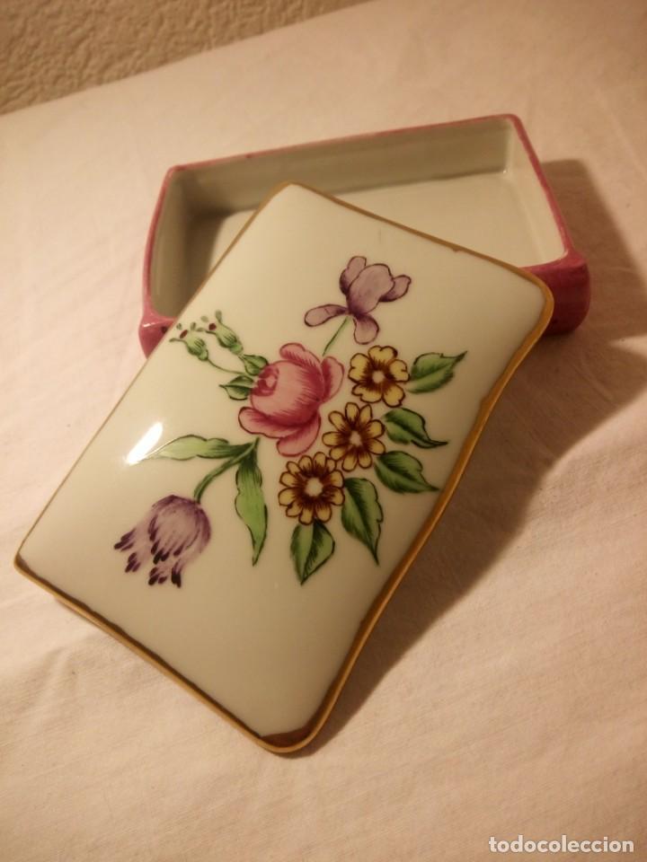 Antigüedades: Antiguo joyero de porcelana limoges france,pintado a mano. - Foto 4 - 188679543