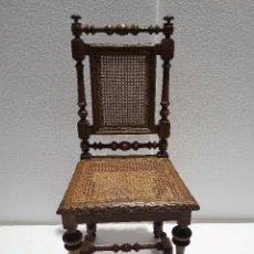 Antigüedades: ANTIGUA SILLA TORNEADA DE REJILLA. Lote 188683323