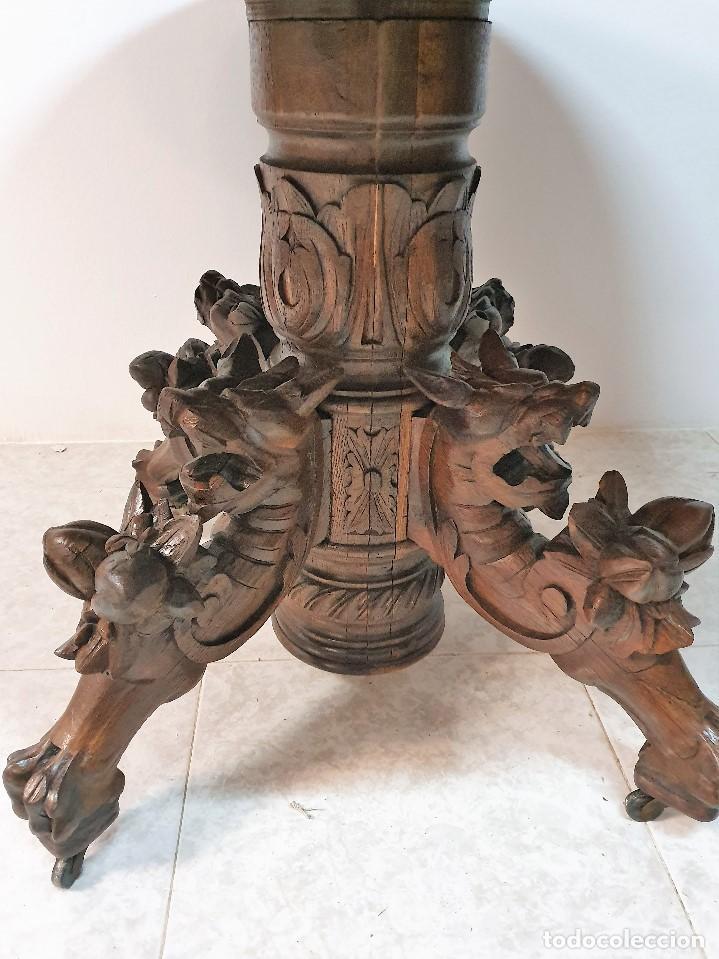 Antigüedades: ANTIGUA MESA OVALADA - Foto 2 - 188684181