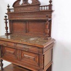 Antigüedades: ANTIGUO TRINCHERO-CUBERTERO DE ROBLE. Lote 188686270