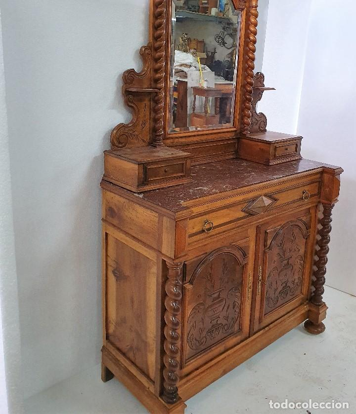 Antigüedades: ANTIGUA COMODA SALOMONICA - Foto 5 - 188687518