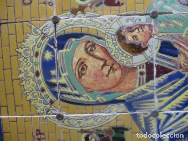 Antigüedades: Retablo ceramico azulejos (Perpetuo socorro). Mensaque - Foto 2 - 188687858