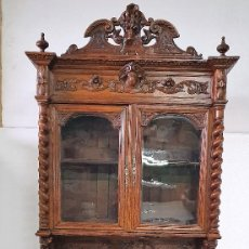 Antigüedades: ANTIGUO TRINCHERO VITRINA DE ROBLE. Lote 188688296