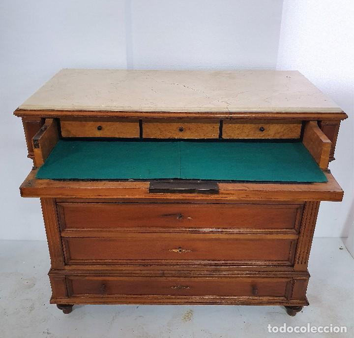 ANTIGUA COMODA SECRETER (Antigüedades - Muebles - Cómodas Antiguas)