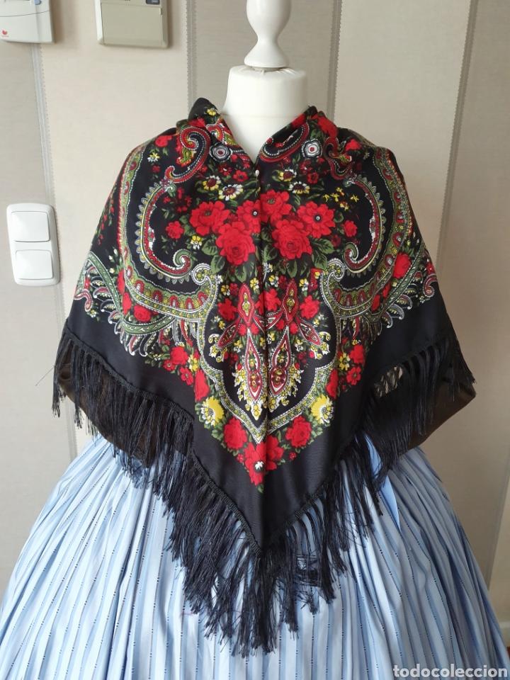 Antigüedades: Pañuelo para traje regional - Foto 2 - 188696283
