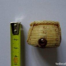 Antigüedades: NETSUKE MARFIL – JAPÓN – ANTIGUO – CESTO DE MIMBRE. Lote 188739661