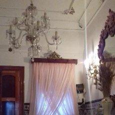 Antigüedades: CORTINAS Y GALERÍA CON ALZAPAÑOS. Lote 188741888