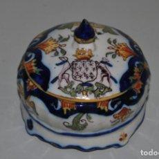 Antigüedades: PRECIOSA CAJA DE PORCELANA FRANCESA - LA BAULE. Lote 188744018