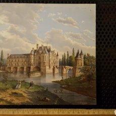 Antigüedades: LOZA - CREIL ET MONTEREAU - CHENONCEAU - TEJA DE LOZA - BALDOSA - FRANCIA. Lote 188759365