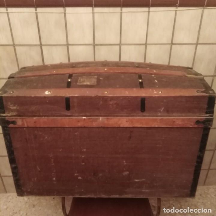Antigüedades: Arca, baúl del siglo xix - Foto 2 - 188772285