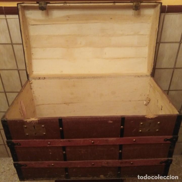 Antigüedades: Arca, baúl del siglo xix - Foto 7 - 188772285