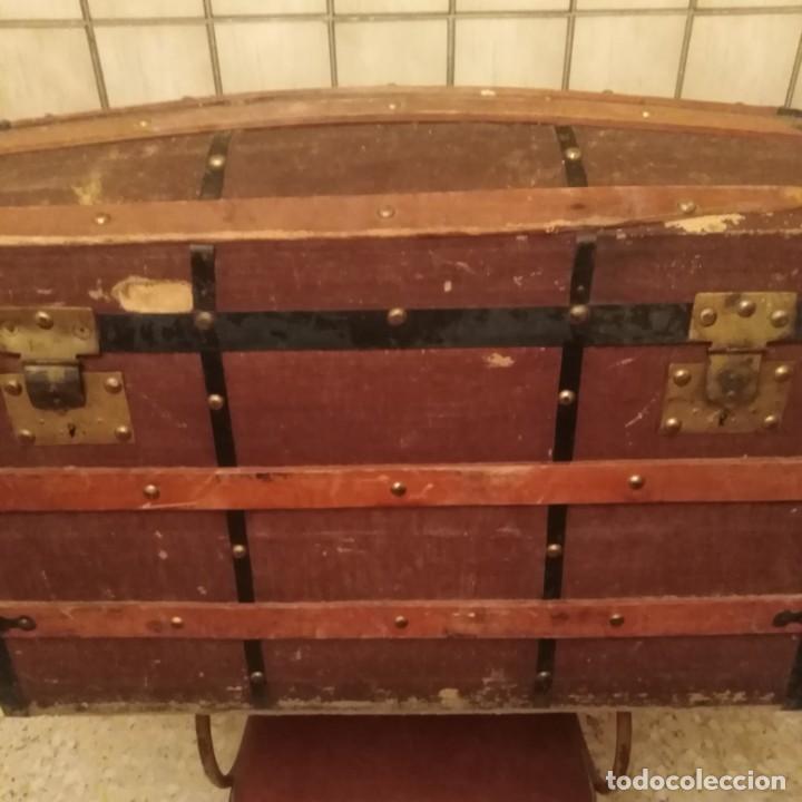 Antigüedades: Arca, baúl del siglo xix - Foto 8 - 188772285