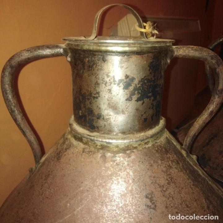 Antigüedades: Cántaros de aceite del siglo xix - Foto 12 - 188772910