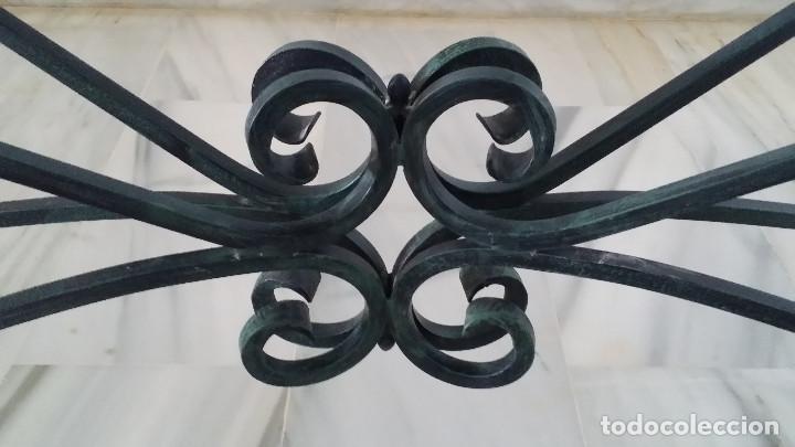Antigüedades: MESA COMEDOR FORJA - SOBRE CRISTAL - Foto 6 - 188809901