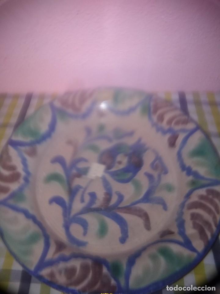 BONITO PLATO DE FAJALUZA ANTIGUO (Antigüedades - Porcelanas y Cerámicas - Fajalauza)