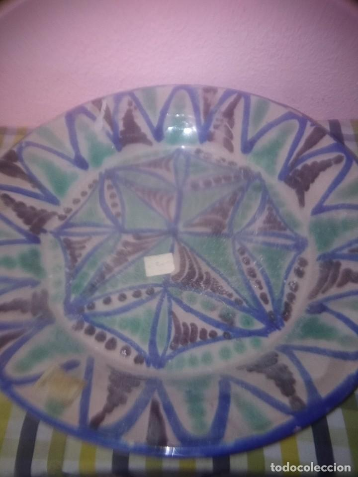 PLATO DE FAJALUZA ANTIGUA (Antigüedades - Porcelanas y Cerámicas - Fajalauza)
